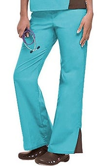 Clearance Urbane Essentials Women's Contrast Trim Scrub Pants