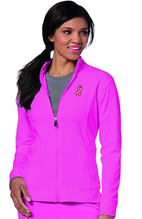 Clearance Urbane Performance Women's Embroidered Warm Up Solid Scrub Jacket