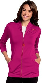 Urbane Ultimate Women's Kristen Zip Front Knit Solid Scrub Jacket