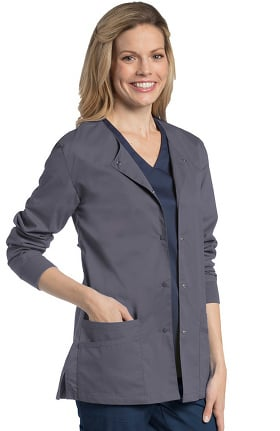 Urbane UFlex Women's Snap Front Warm-Up Solid Scrub Jacket