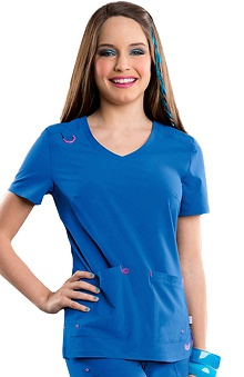 Smitten Women's Rumor V-Neck Solid Scrub Top