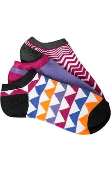 Smitten Women's Ankle Geometric Print Sock 3-Pack