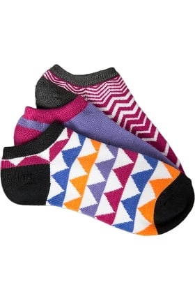 Clearance Smitten Women's Ankle Geometric Print Sock 3-Pack