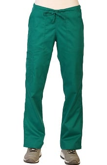 Contego by LifeThreads Women's Drawstring Cargo Stretch Scrub Pant