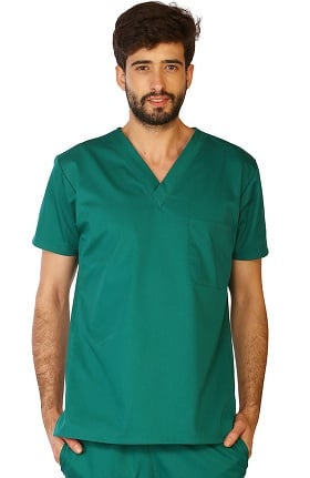 Classic by LifeThreads Unisex V-Neck Solid Scrub Top