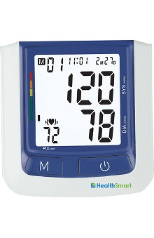 Mabis HealthSmart® Premium Talking Automatic Digital Blood Pressure Monitor, Bilingual, Blue
