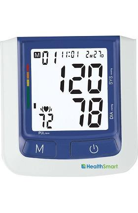 Mabis HealthSmart® Premium Talking Automatic Digital Blood Pressure Monitor, Bilingual, Blue