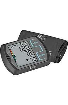 Mabis Ultra Digital Blood Pressure Monitor with Regular and Oversize Cuffs, Two Person Memory, Black