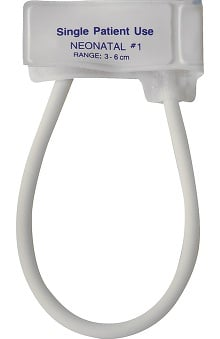 Mabis One-Tube Single-Patient Use Cuff, Neonatal #1 (Box of 10)