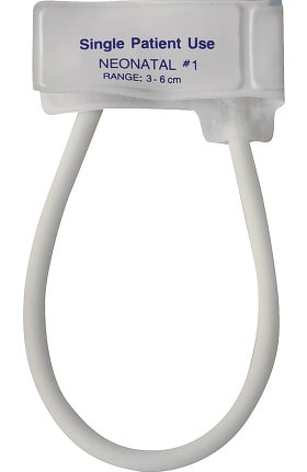 Clearance Mabis One-Tube Single-Patient Use Cuff, Neonatal #1 (Box of 10)