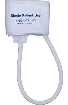 Mabis One-Tube Single-Patient Use Cuff, Neonatal #3 (Box of 10)