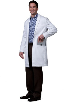Medelita Men's Wilson Slim Fit Lab Coat