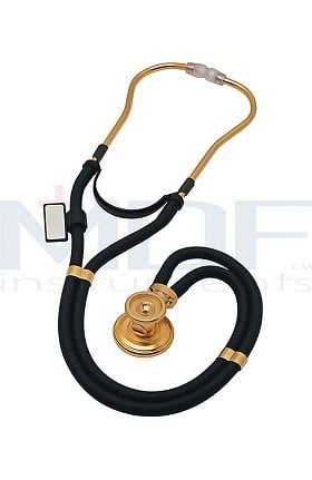 MDF Instruments 22K Gold Edition Sprague-X Rappaport Dual Head Stethoscope with Adult, Pediatric, and Infant Convertible Chestpiece
