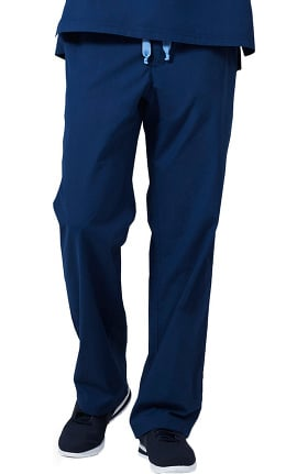 Medelita Men's Zip Fly Straight Leg Scrub Pant