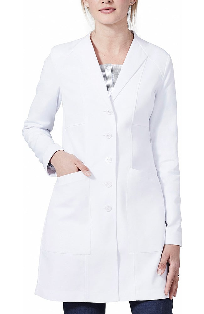 White lab coats for women