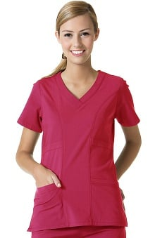 Ecoflex by Maevn Women's Curved V-Neck Scrub Top