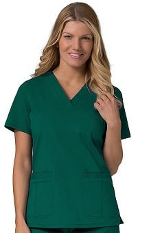 Ecoflex by Maevn Women's Welt Pocket V-Neck Scrub Top
