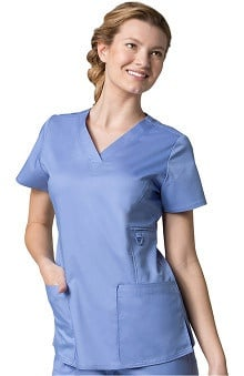 EON Women's V-Neck Solid Scrub Top