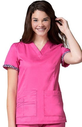 Primaflex by Maevn Women's Classic V-Neck Scrub Top