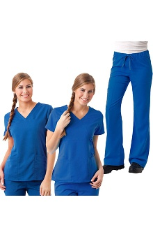 Gravity by Maevn Women's 2 Tops 1 Pant Scrub Set