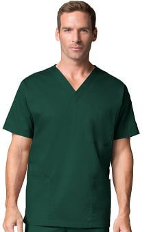 Maevn Uniforms Men's 3 Pocket Stretch Scrub Top