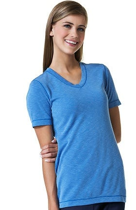 Maevn Uniforms Women's V-Neck Modal Knit Solid Scrub T-Shirt