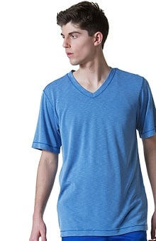 Maevn Uniforms Men's V Neck Modal Knit Solid Scrub Top