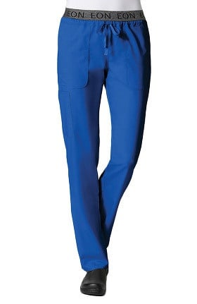 EON Women's COOLMAX® Logo Elastic Drawstring Waistband Scrub Pant
