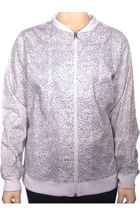 Maevn Uniforms Women's Zip Front Floral Print Scrub Jacket