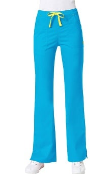 Petite new: Blossom by Maevn Women's Multi Pocket Flare Leg Scrub Pant