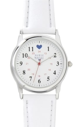 Nurse Mates Military Dial with Blue Heart Watch