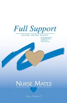 Nurse Mates Women's Nearly Nude 6 mmHg Compression Full Support Pantyhose