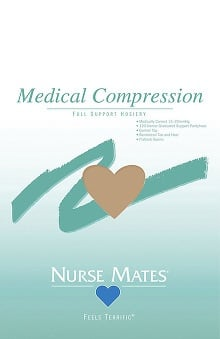 Nurse Mates Women's 15-20 Mm/Hg Medically Correct Compression Hosiery