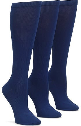 Nurse Mates Women's 12-14 mmHg Compression Trouser Sock 3 Pack