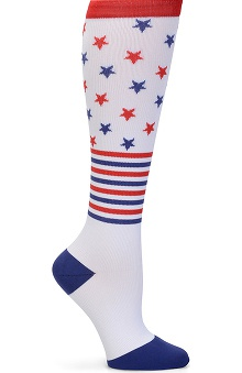 Nurse Mates Women's 12-14mmhg Compression Patriotic Print Trouser Sock