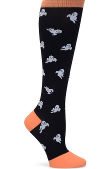 Nurse Mates Women's 12-14mmhg Compression Halloween Print Trouser Sock