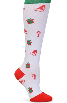 Nurse Mates Women's 12-14mmhg Compression Christmas Print Trouser Sock