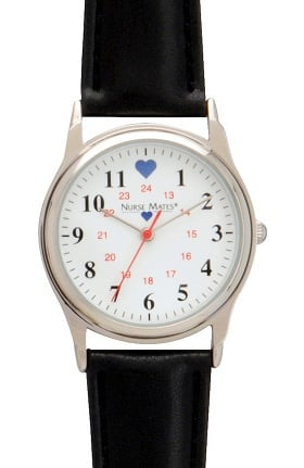Nurse Mates Women's Chrome Military Watch