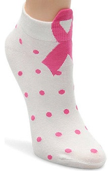 Nurse Mates Women's 3D Pink Ribbon Anklet Sock
