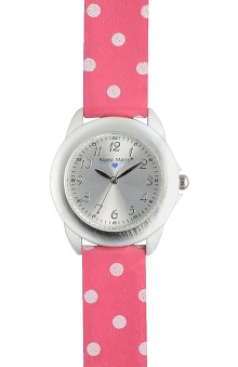 Nurse Mates Women's Pink Dot Watch