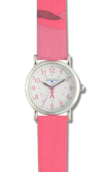 Clearance Nurse Mates Women's Pink Ribbon Camo Watch