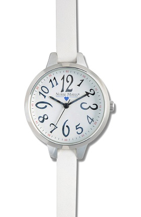 Nurse Mates Women's Modern Dial Skinny Strap Watch