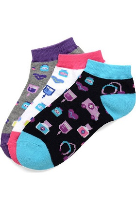 Nurse Mates Women's Medical Icon Sock 3 Pair Pack