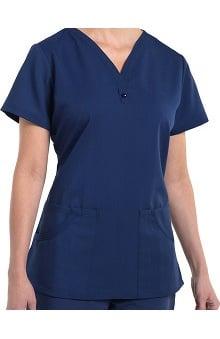 Nurse Mates Women's Caitlyn Solid Henley Scrub Top