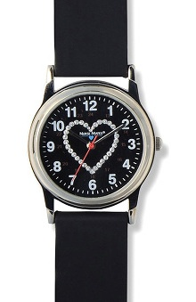 Nurse Mates Women's Glitter Heart Watch