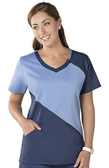 Nurse Mates Women's Harper V-Neck Solid Scrub Top