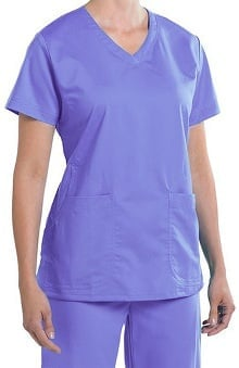 Nurse Mates Women's Maci V-Neck Solid Scrub Top