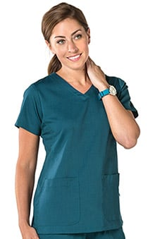 Nurse Mates Women's Maci Soft V-Neck Solid Scrub Top