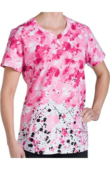 Nurse Mates Women's Nina Notch Neck Abstract Print Scrub Top