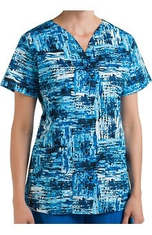 Nurse Mates Women's Piper Abstract Print Scrub Top